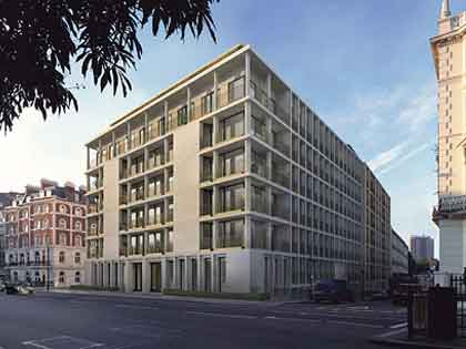 Apartment building forming De Vere Gardens, London, we conduct water sampling tests