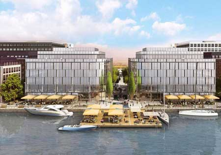 Royal Albert Docks, one of Euroflo's project as specialist engineering contractors